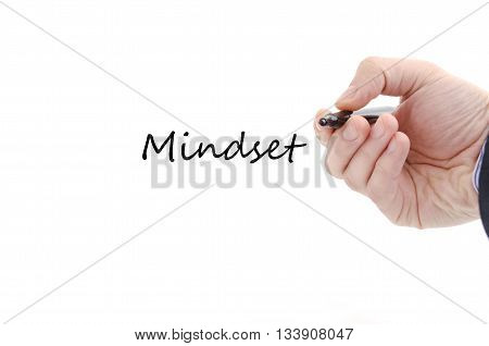 Mindset text concept isolated over white background