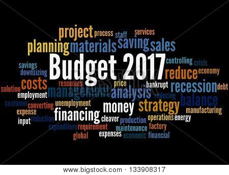 Budget 2017, Word Cloud Concept 9
