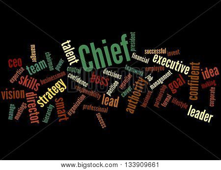 Chief, Word Cloud Concept 3