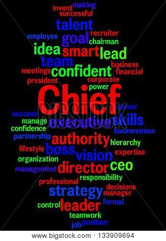 Chief, Word Cloud Concept 4