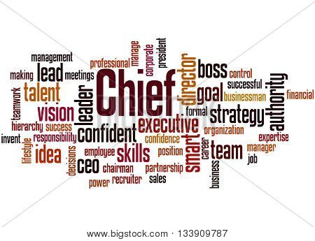 Chief, Word Cloud Concept 8