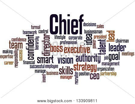 Chief, Word Cloud Concept 9