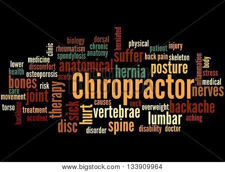 Chiropractor, Word Cloud Concept 5