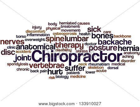 Chiropractor, Word Cloud Concept 8