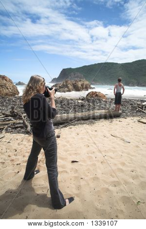 Model Shoot At The Heads Beach In Knysna