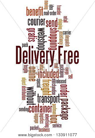 Delivery Free, Word Cloud Concept 4