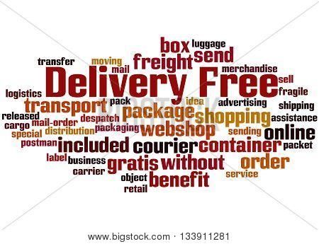 Delivery Free, Word Cloud Concept 9