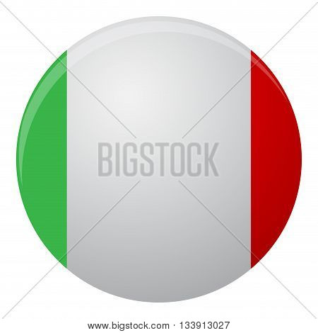 Italy flag icon flat. Country italy flag illustration and national italian element vector