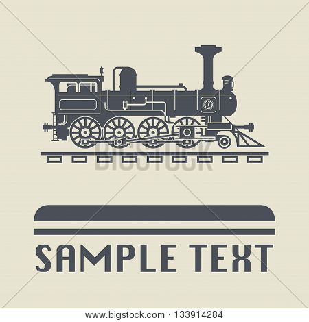 Abstract Locomotive icon or sign, vector illustration
