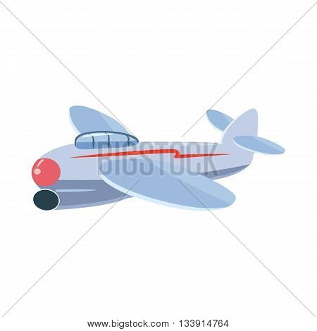 Small plane icon in cartoon style isolated on white background. Aircraft symbol