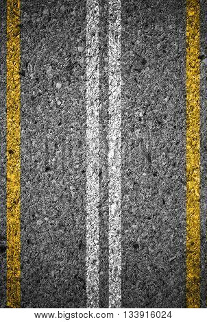 Highway Background, Road texture with two yellow