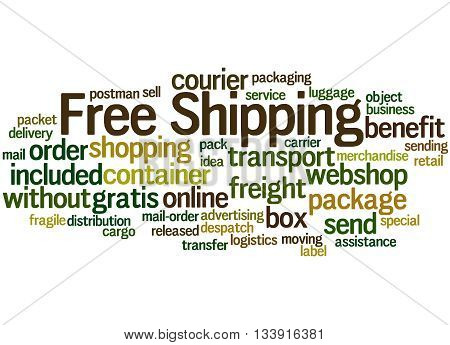 Free Shipping, Word Cloud Concept 5