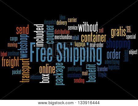 Free Shipping, Word Cloud Concept 7