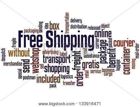 Free Shipping, Word Cloud Concept 8