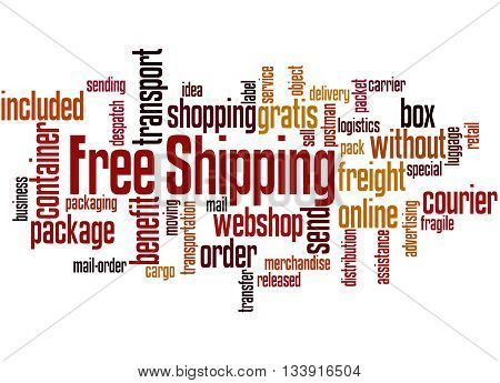 Free Shipping, Word Cloud Concept 9