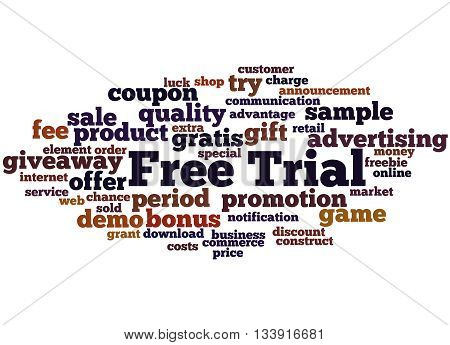 Free Trial, Word Cloud Concept 5