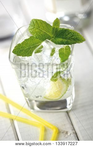Caipirinha is the national cocktail of Brazil prepared with cachaca (sugarcane liquor) sugar and lime.