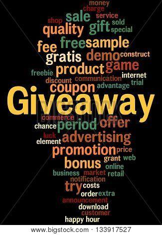 Giveaway, Word Cloud Concept 4