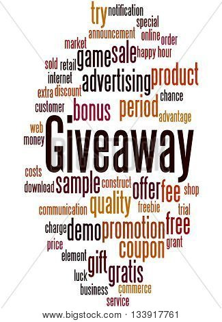 Giveaway, Word Cloud Concept 9