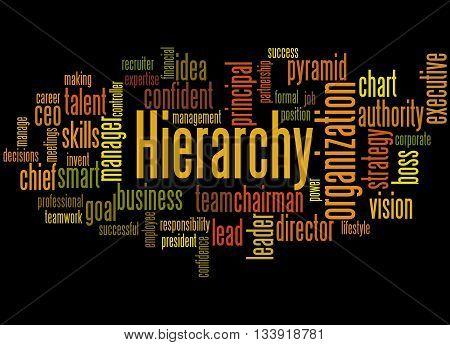 Hierarchy, Word Cloud Concept