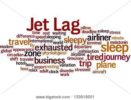 Jet Lag, Word Cloud Concept 8