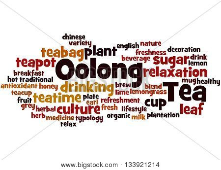 Oolong Tea, Word Cloud Concept 3