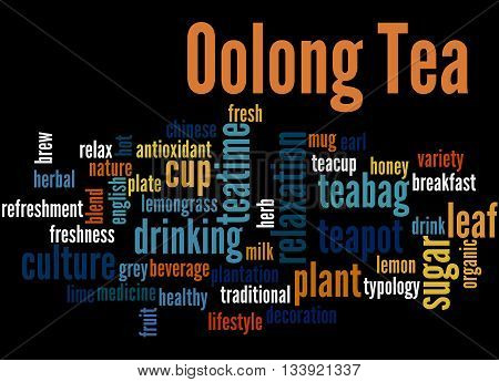Oolong Tea, Word Cloud Concept 6