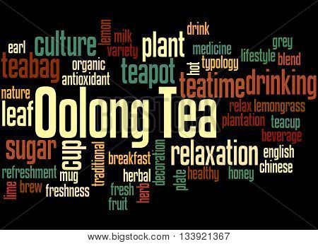 Oolong Tea, Word Cloud Concept 7