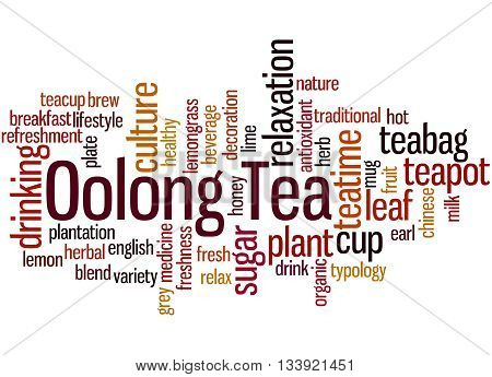 Oolong Tea, Word Cloud Concept 9