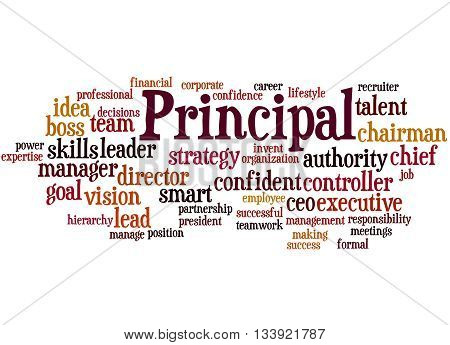 Principal, Word Cloud Concept 8