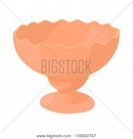 Vase for jam icon in cartoon style on a white background
