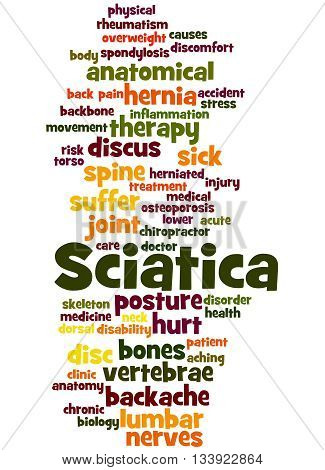 Sciatica, Word Cloud Concept 9