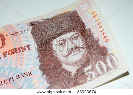 magyar hero on Hungarian 500 Forint Banknote