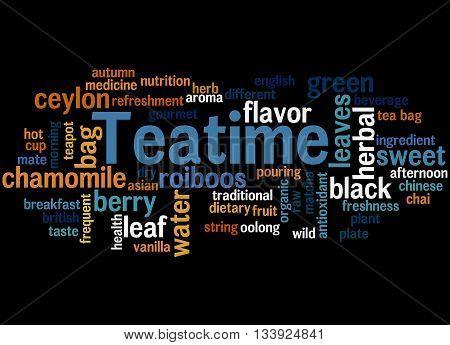 Teatime, Word Cloud Concept 5