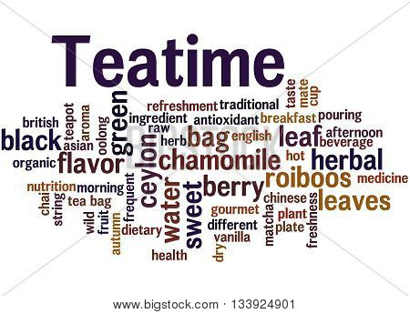 Teatime, Word Cloud Concept 7