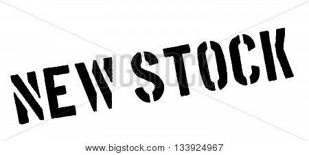 New Stock Black Rubber Stamp On White