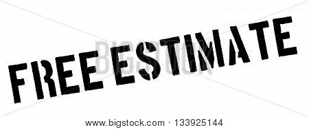 Free Estimate Black Rubber Stamp On White