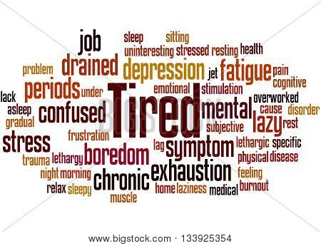 Tired, Word Cloud Concept 9