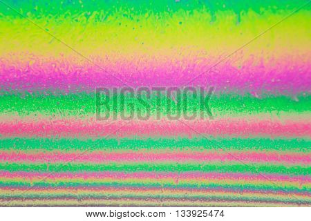 Close up of soap film can be used as abstract background