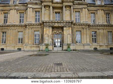 Maisons Laffitte France - april 4 2016 : the castle built in the 17 th century
