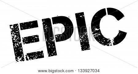 Epic Black Rubber Stamp On White
