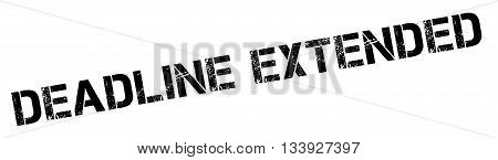 Deadline Extended Black Rubber Stamp On White