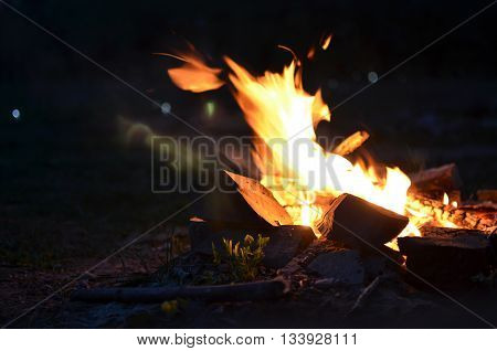 Night Fire At The Yard