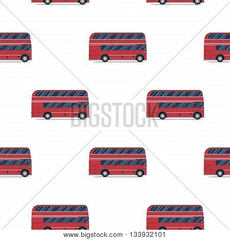 seamless pattern of the classic red double-decker London bus. Vector illustration