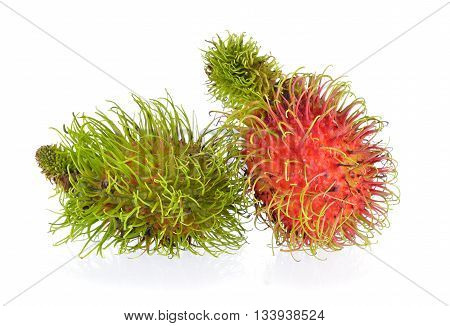 sweet rambutan  isolated on a white background