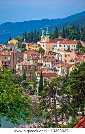 Town of Volosko in Kvarner bay view Croatia