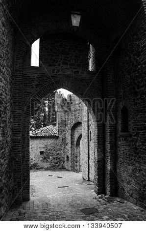 Montefiore Conca (Rimini), medieval landscape in Emilia-Romagna (Italy)
