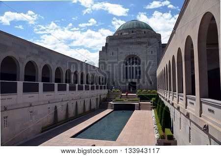 Canberra, Australia - Feb 20, 2016.  Visiting the Australian War Memorial. The Australian War Memorial is Australia's national memorial to the members of its armed forces and supporting organisations who have died or participated in wars involving the Com