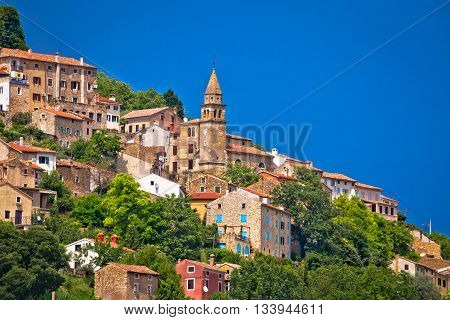Town of Motovun old mediterranean architecture view Istria Croatia