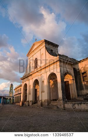 The colonial Holy Trinity church in the historic town of Trinidad in central Cuba